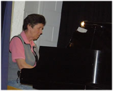 Audrey on piano